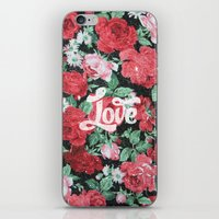 Red Pink Roses Chic Love… iPhone & iPod Skin
