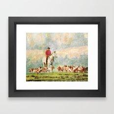 Foxhunt 1 Framed Art Print