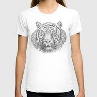 The Tiger's head Womens Fitted Tee White SMALL