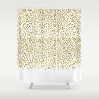 Gold Confetti Sparkle and Shine Shower Curtain