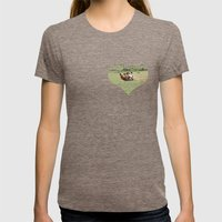 Rolling Horse Womens Fitted Tee Tri-Coffee SMALL