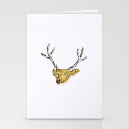 Reindeer Stationery Card