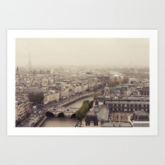 Foggy Brained Paris Art Print