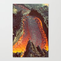 Active Volcano in Guatemala Canvas Print
