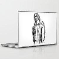 Laptop & iPad Skin featuring The Dude by Tom Ledin