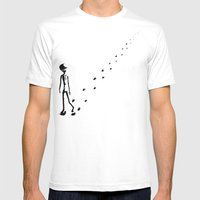 Alone Mens Fitted Tee White SMALL