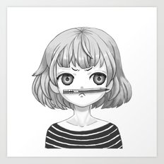 I don't know what to draw Art Print