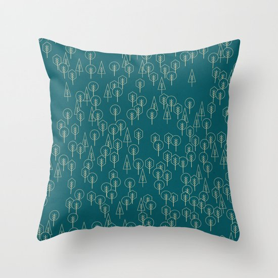 Geometric Woods Ver. 2 Throw Pillow
