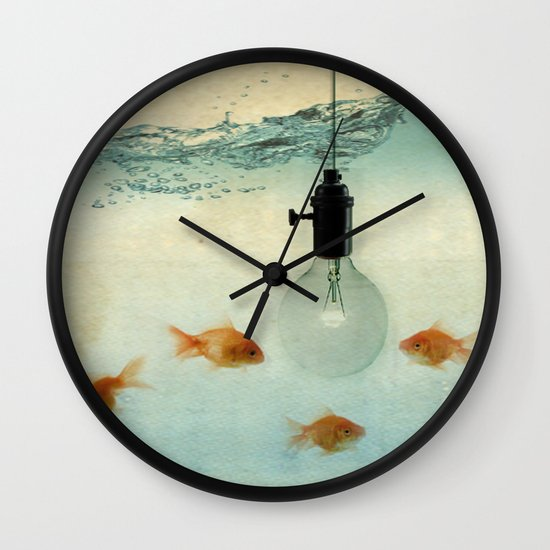 Fishing for ideas Wall Clock