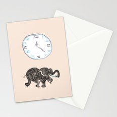 Elefante reloj Stationery Cards