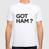 GOT HAM? Mens Fitted Tee Ash Grey SMALL