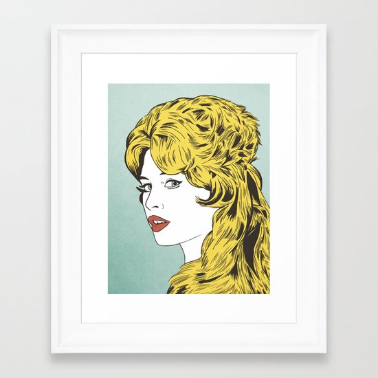 Blonde Bombshell Framed Art Print