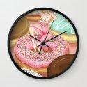 Donut Girl Wall Clock