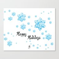 Snow Falling At Christma… Canvas Print