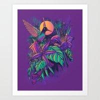 Purple Garden Art Print