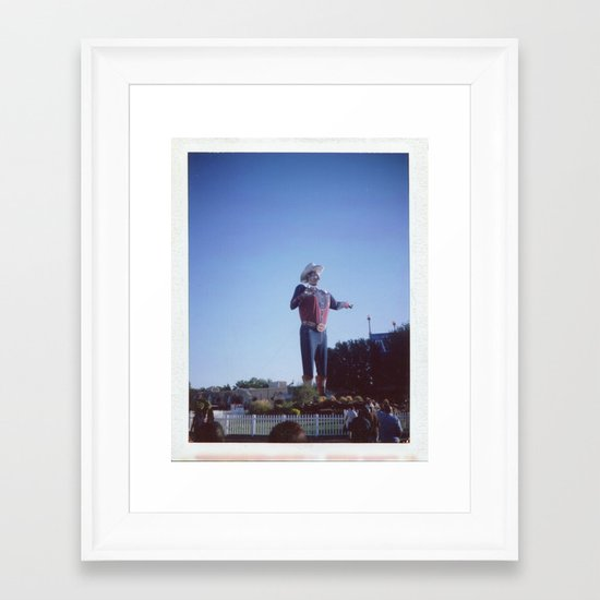 bigtex01 Framed Art Print