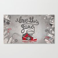 I Love This Game Canvas Print