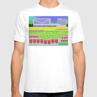 Rose Garden Mens Fitted Tee White SMALL