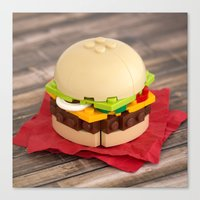 Gourmet Burger Canvas Print