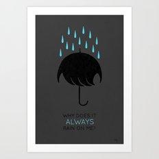 Umbrellas are Emo Art Print