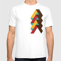 Ribbon Pattern 2 Mens Fitted Tee White SMALL