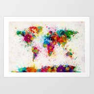 Map Of The World Map Pai… Art Print