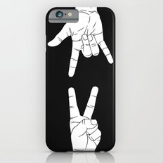 Peace Love and Rock N Roll Slim Case iPhone 6s