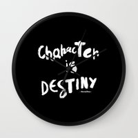 Character Is Destiny - Heraclitus Wall Clock