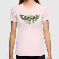 Moth And Moon Womens Fitted Tee Light Pink SMALL