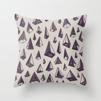 Triangles Are My Favorit… Throw Pillow