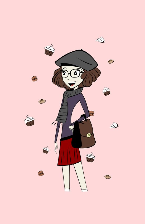 Have a break, have a cupcake ! Art Print