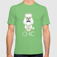 Chic Poodle Mens Fitted Tee Grass SMALL
