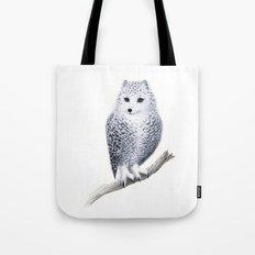 Snowy Fowl Tote Bag