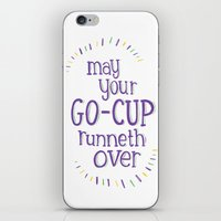 Go-Cup (type only) iPhone & iPod Skin
