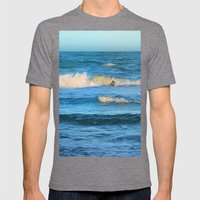 Beautiful waves on the Queensland coast of Australia Mens Fitted Tee Tri-Grey SMALL