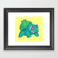 GO! (Simple) Framed Art Print