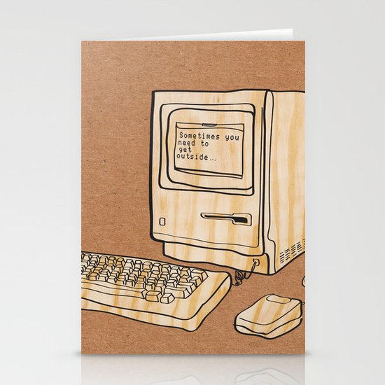 Sometimes you need to get outside Stationery Card