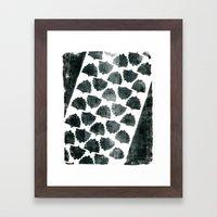 Grey Maple Print Framed Art Print