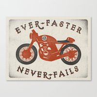 Ever Faster Never Fails : Motorcycle Canvas Print