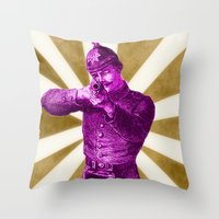Pink Soldier Throw Pillow