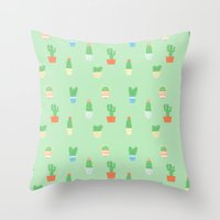 Prickly Beasts Throw Pillow