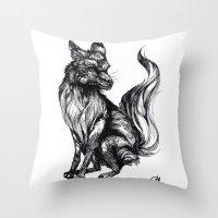 Foxy Two Throw Pillow