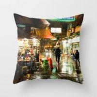 Cafe Hong Kong Throw Pillow