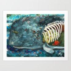 Whale - Head Art Print