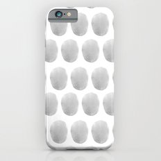 Watercolour polkadot grey Slim Case iPhone 6s