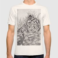 cute tiger Mens Fitted Tee Natural SMALL