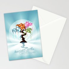 The Four Seasons Bubble Tree Stationery Cards