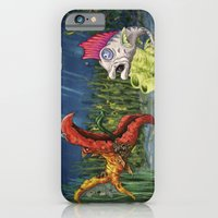 iPhone & iPod Case featuring mutant and punk fish by yusuf usta