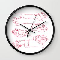 Classic Horror Hands (Red Line) Wall Clock