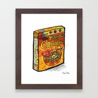 Honey Nut Cheerios Framed Art Print